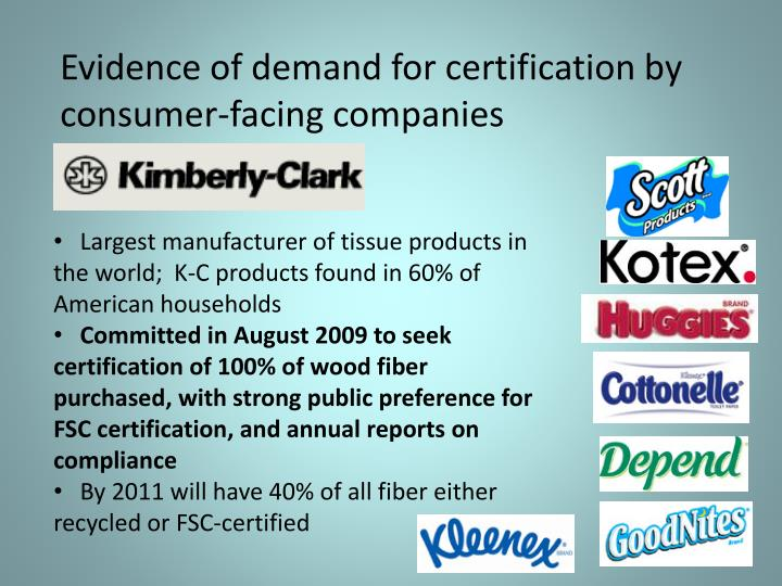 Evidence of demand for certification by consumer-facing companies