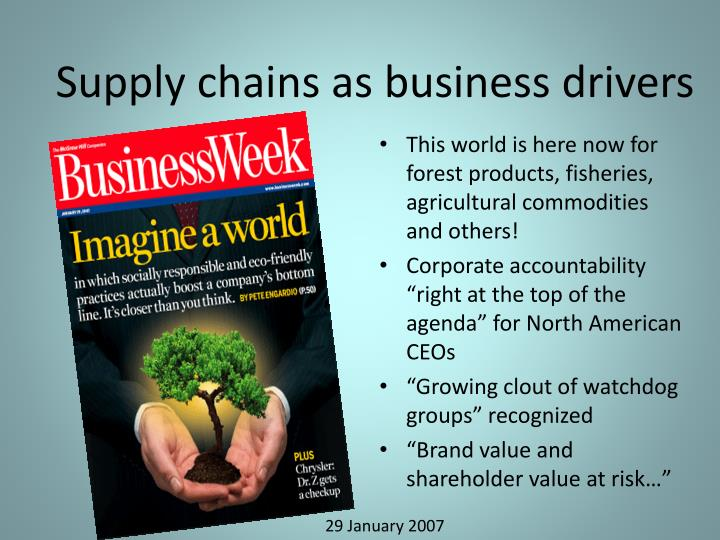 Supply chains as business drivers