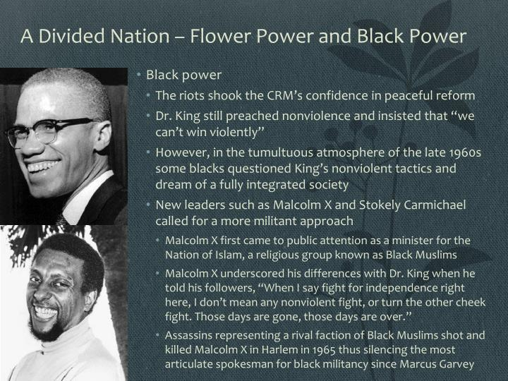 A Divided Nation – Flower Power and Black Power