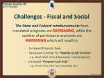 challenges fiscal and social