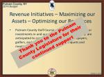 revenue initiatives maximizing our assets optimizing our resources2