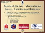 revenue initiatives maximizing our assets optimizing our resources3