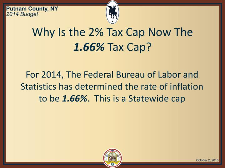 Why Is the 2% Tax Cap Now