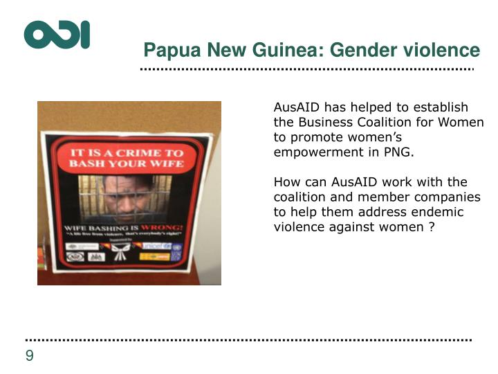 Papua New Guinea: Gender violence