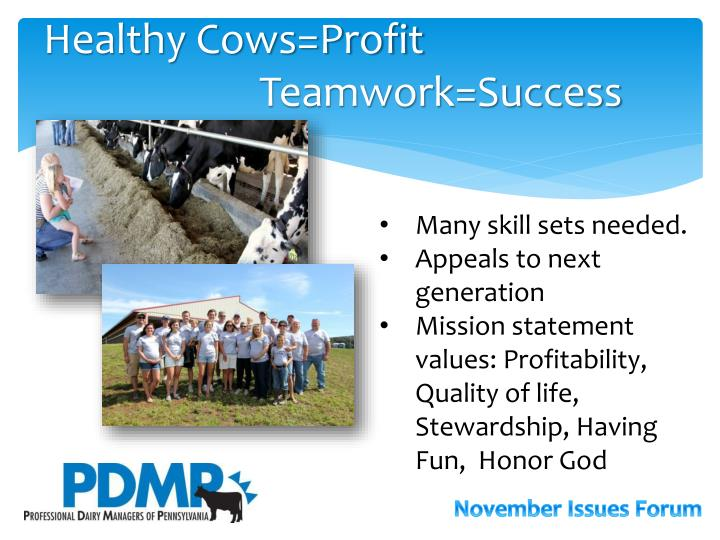 Healthy Cows=Profit