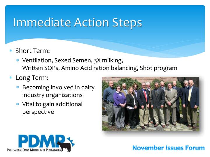 Immediate Action Steps