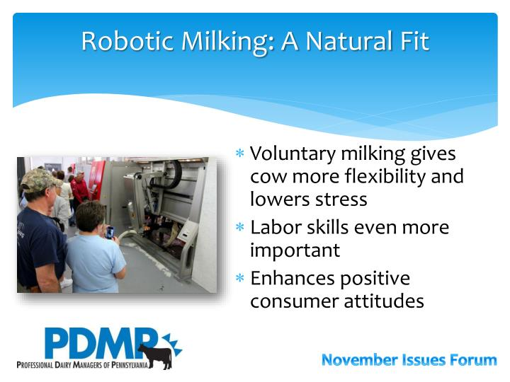 Robotic Milking: A