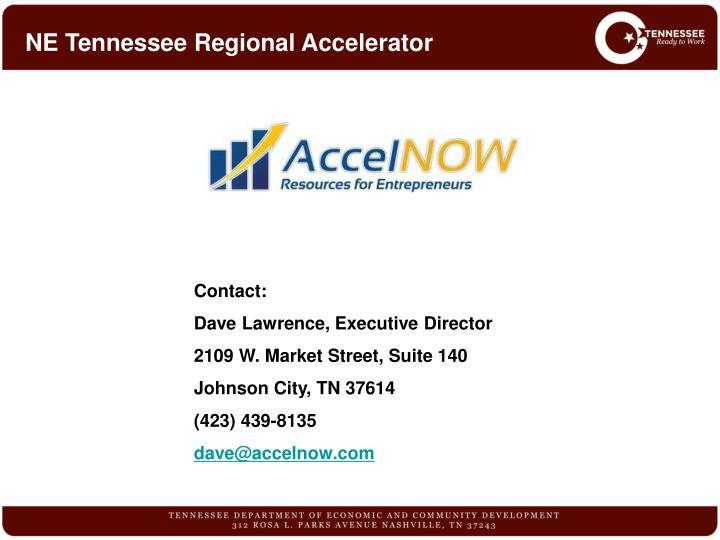 NE Tennessee Regional Accelerator