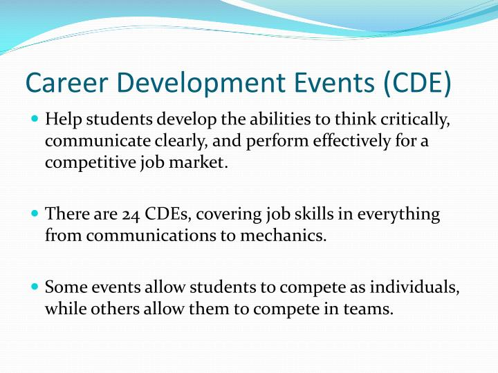 Career Development Events (CDE)