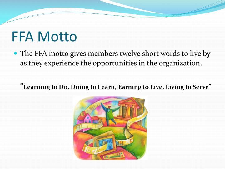 FFA Motto
