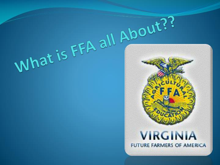 What is ffa all about