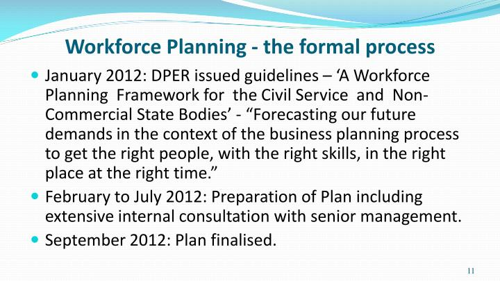 Workforce Planning - the formal process