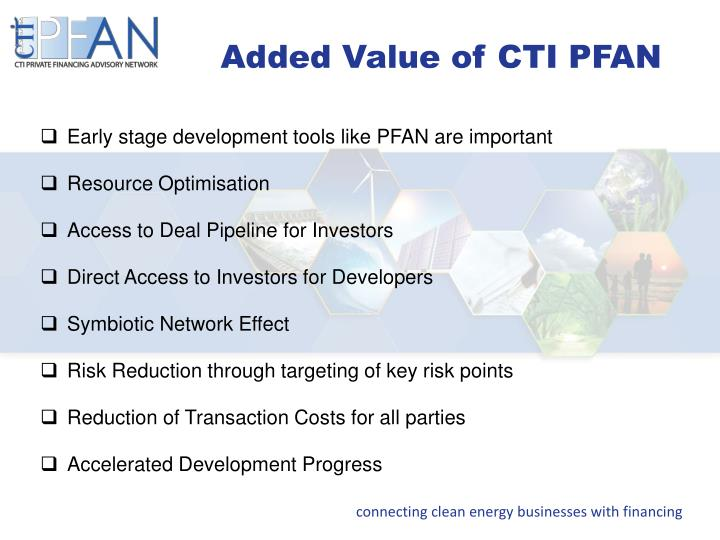 Added Value of CTI PFAN