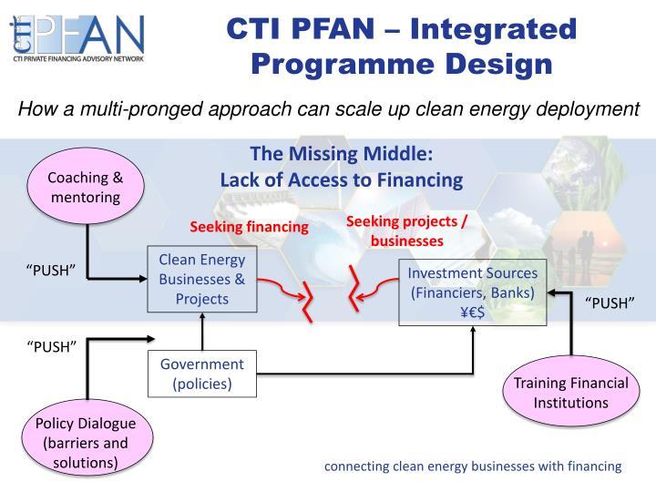 CTI PFAN – Integrated Programme Design