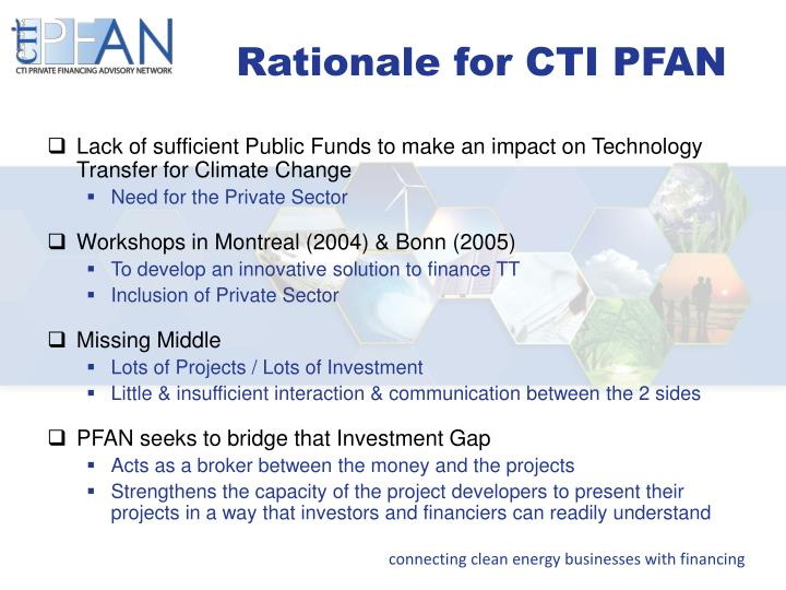 Rationale for CTI PFAN