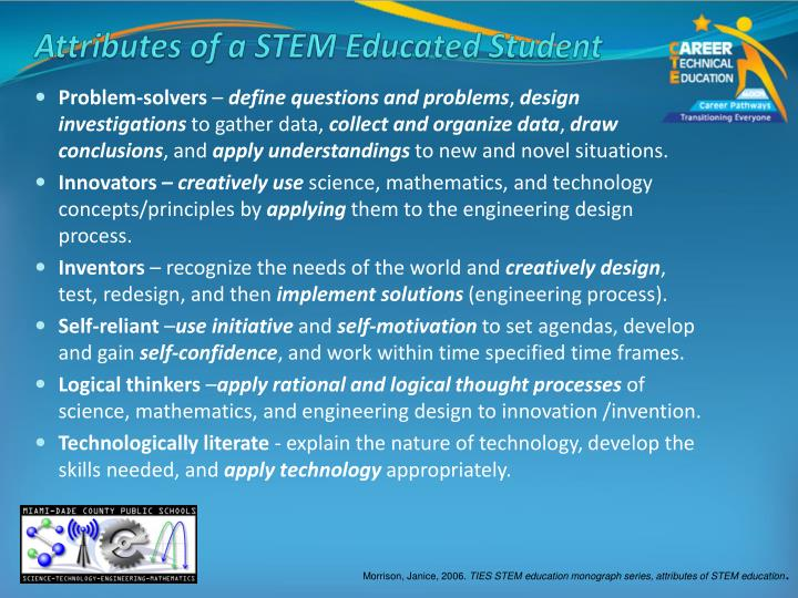 Attributes of a STEM Educated Student