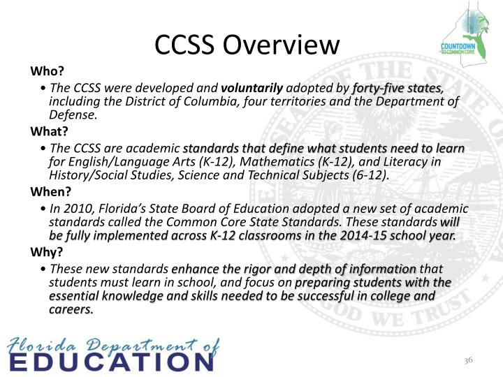 CCSS Overview