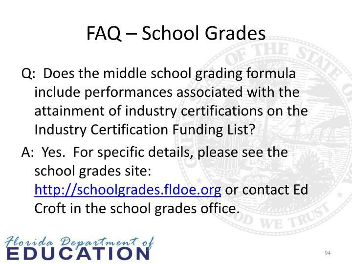 FAQ – School Grades