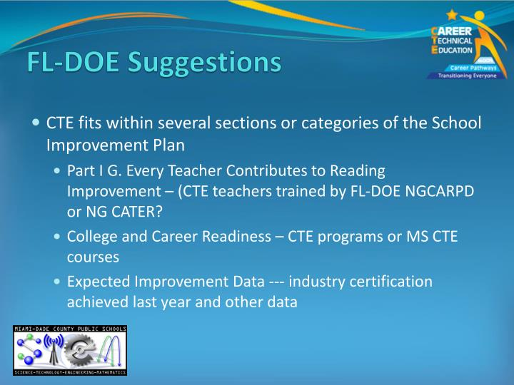 FL-DOE Suggestions