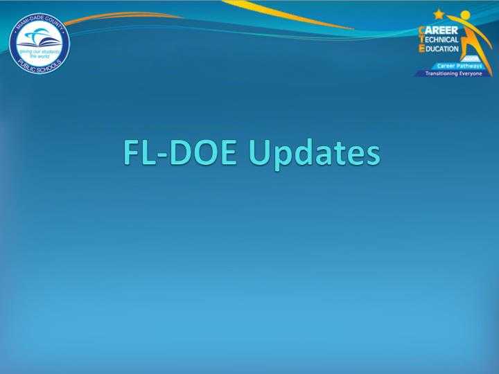 FL-DOE Updates