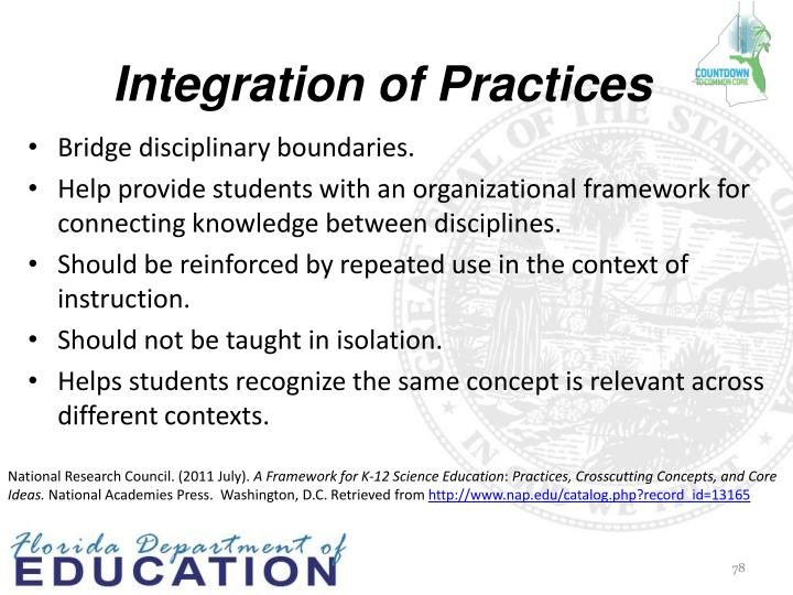 Integration of Practices