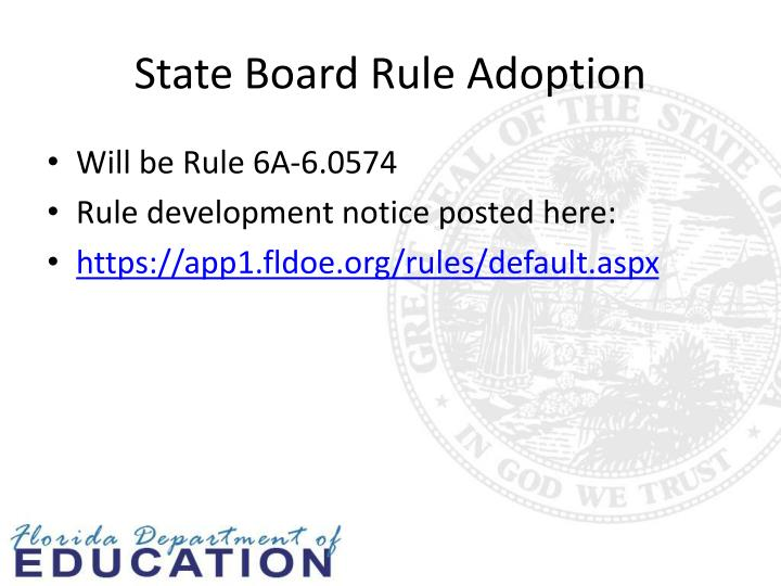 State Board Rule Adoption