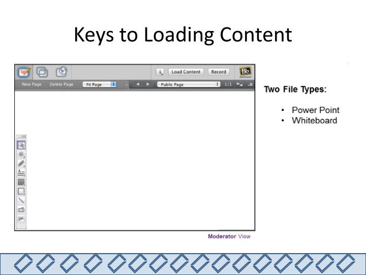 Keys to Loading Content