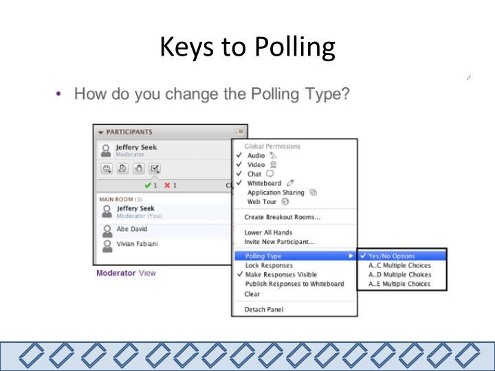 Keys to Polling