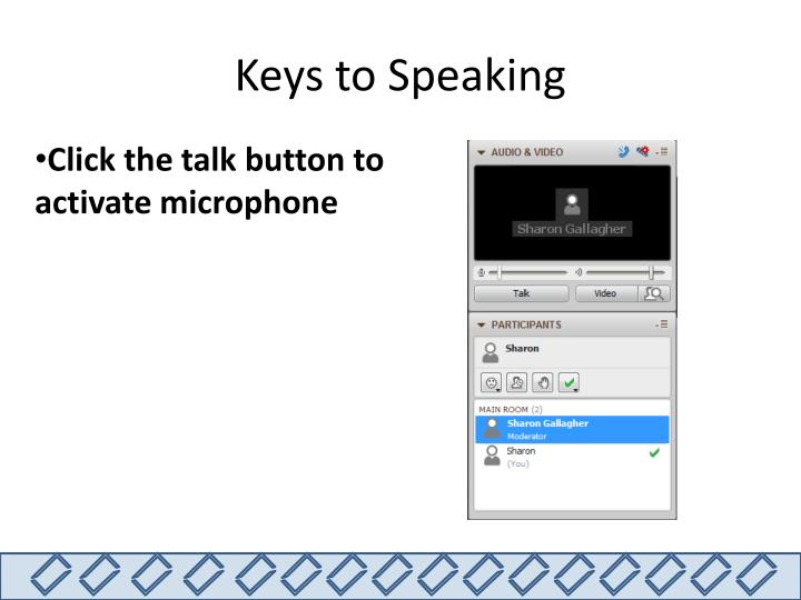 Keys to Speaking