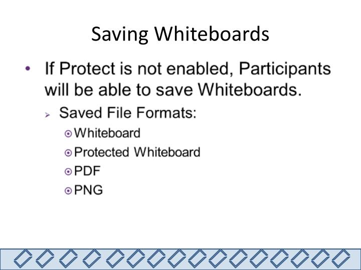 Saving Whiteboards