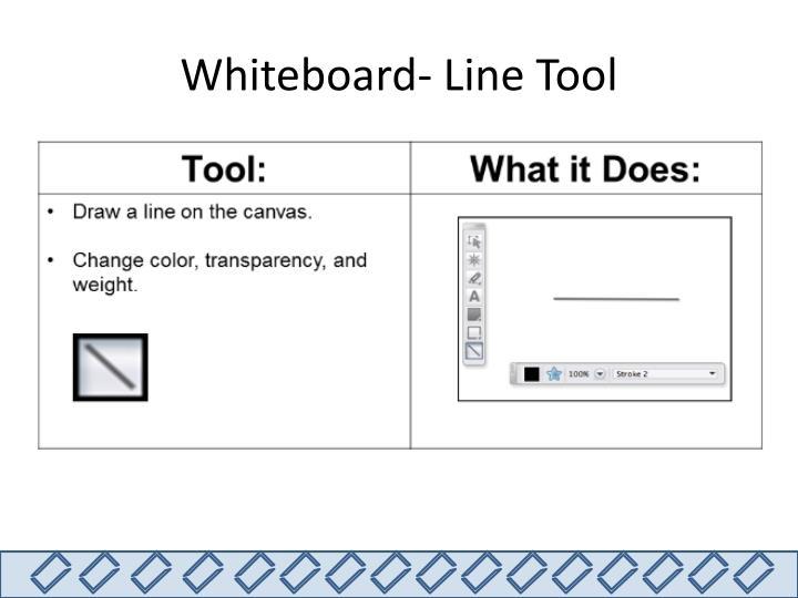 Whiteboard- Line Tool