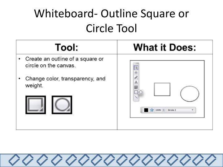 Whiteboard- Outline Square or