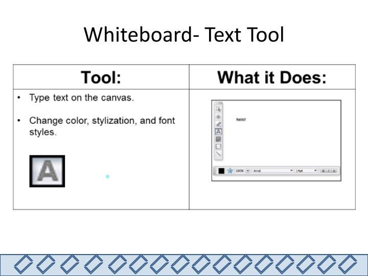 Whiteboard- Text Tool