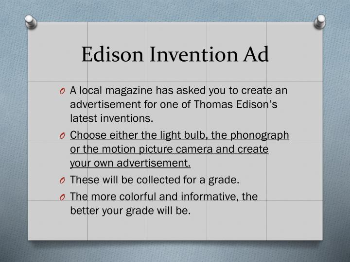 Edison Invention Ad
