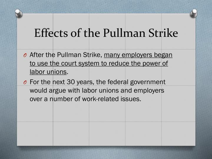 Effects of the Pullman Strike