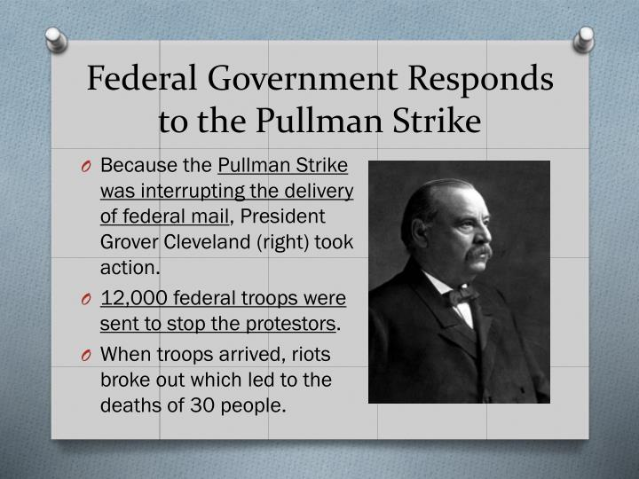 Federal Government Responds to the Pullman Strike