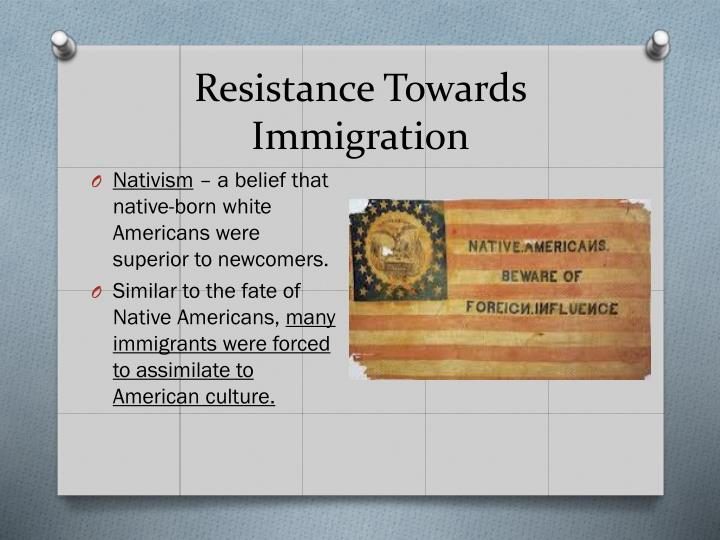 Resistance Towards Immigration