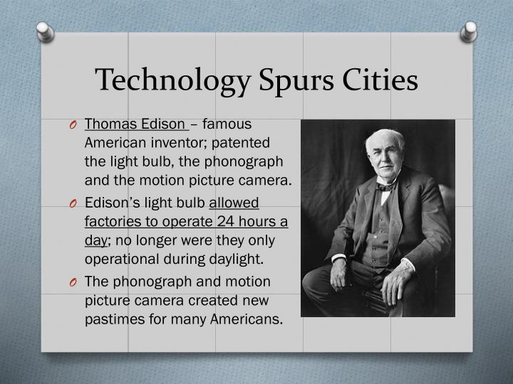 Technology Spurs Cities