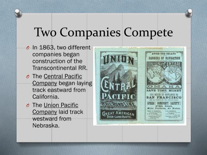 Two Companies Compete