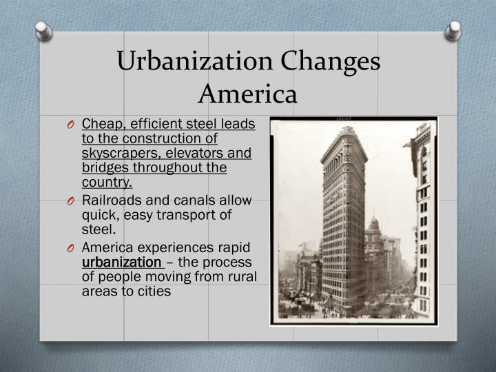 Urbanization Changes America