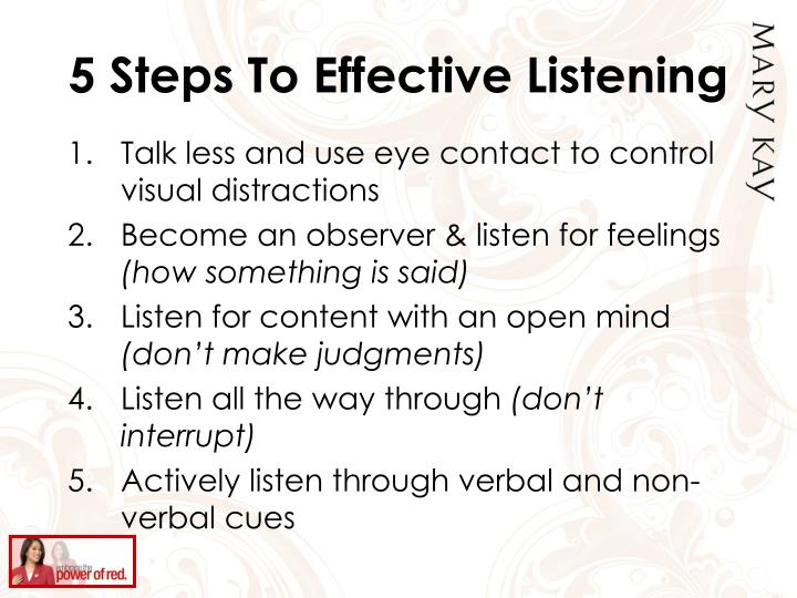 5 Steps To Effective Listening