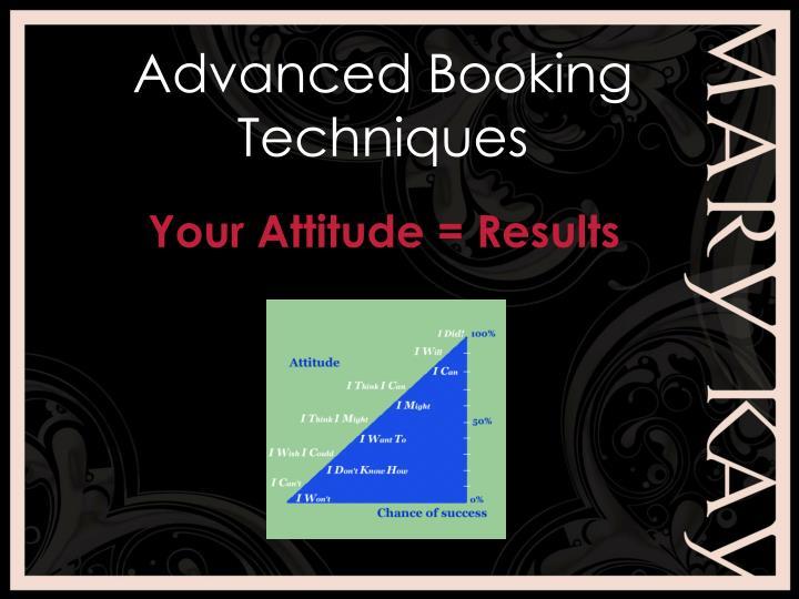 Advanced Booking Techniques