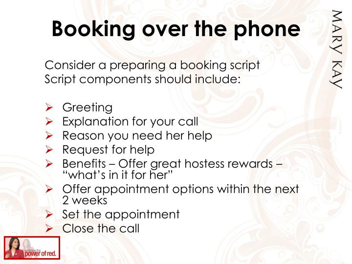Booking over the phone