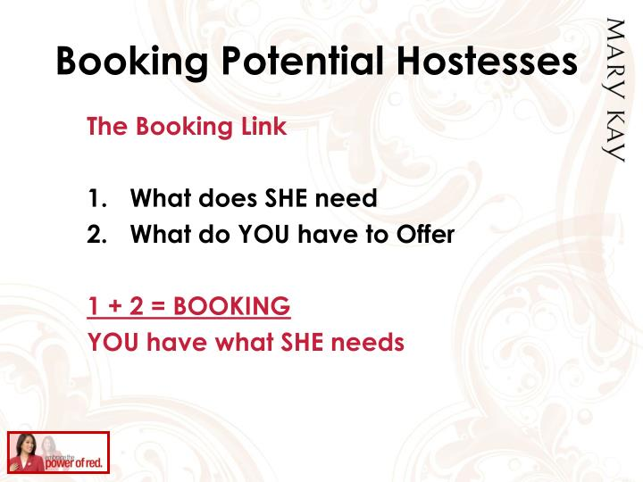 Booking Potential Hostesses