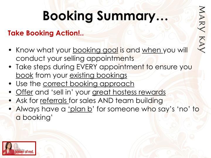 Booking Summary