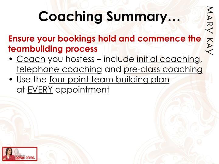 Coaching Summary