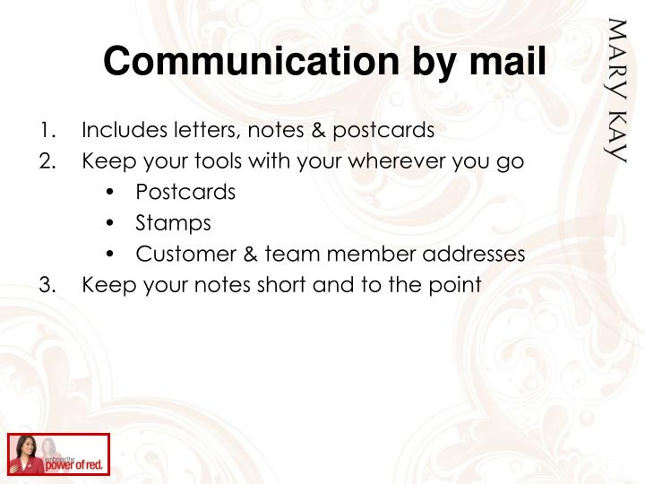 Communication by mail