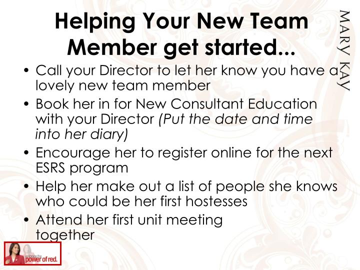 Helping Your New Team