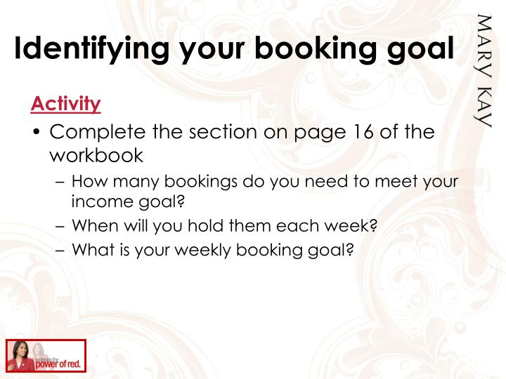 Identifying your booking goal