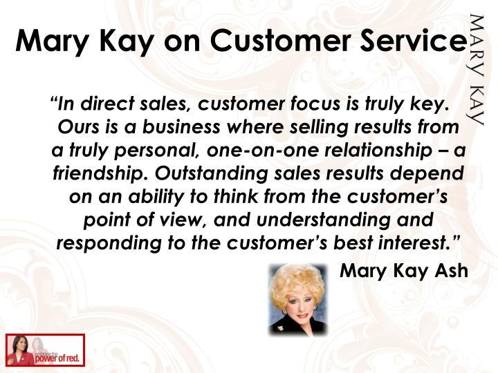 Mary Kay on Customer Service